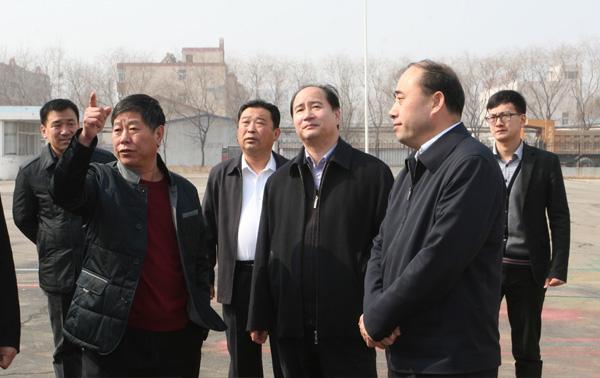 山东省农机局领导来我公司视察指导工作