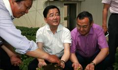省科技厅领导及新华社来我司参观全程马铃薯机